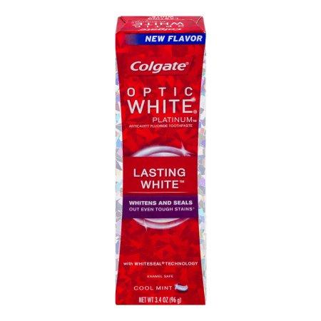 Colgate Optic White Platinum Lasting White Toothpaste Cool Mint, 3.4 OZ