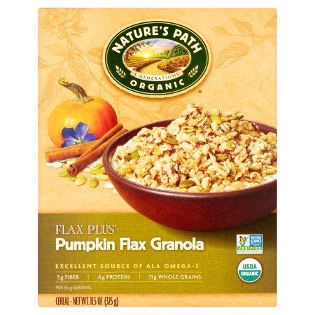 Nature's Path Organic Flax Plus Pumpkin Flax Granola Cereal 11.5 oz