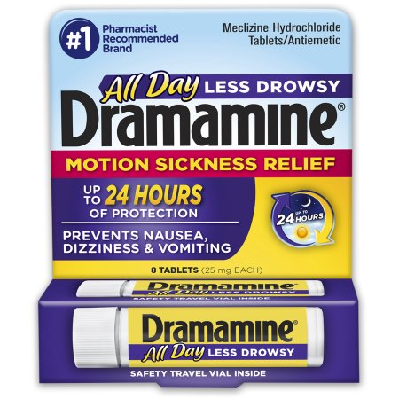 Dramamine Less Drowsy Formula Motion Sickness Relief Tablets - 8 CT