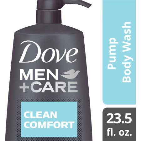 Dove Men+Care Clean Comfort Body and Face Wash Pump, 23.5 oz