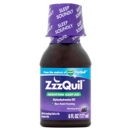 ZzzQuil Nighttime Sleep-Aid Liquid Warming Berry Flavor, 6 fl oz