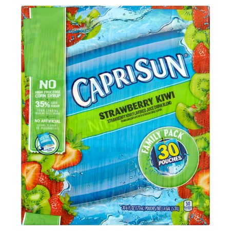 Capri Sun Strawberry Kiwi Juice Drink Blend, 30 count, 1.4 GAL (5.31l)