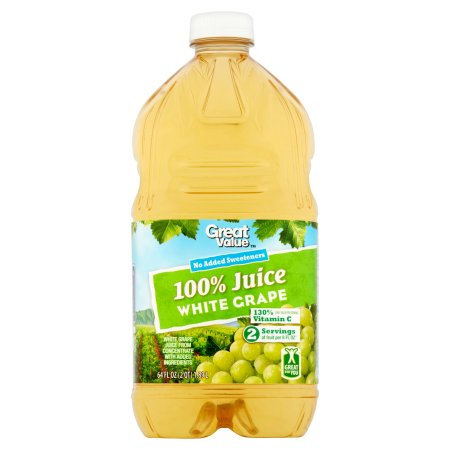 Great Value 100% White Grape Juice, 64 fl oz