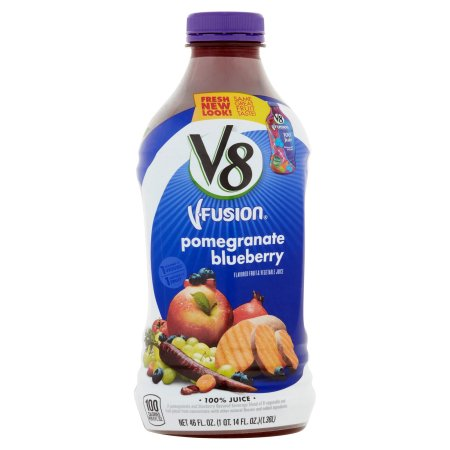 V8 V-Fusion Pomegranate Blueberry Flavored Fruit & Vegetable Juice 46fl.oz
