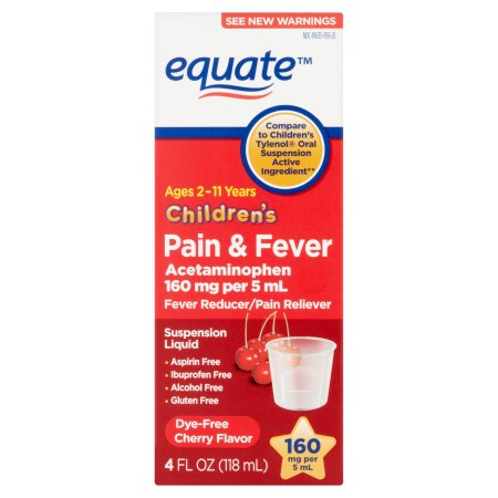 Equate Acetaminophen Cherry Dye Free, 4 oz