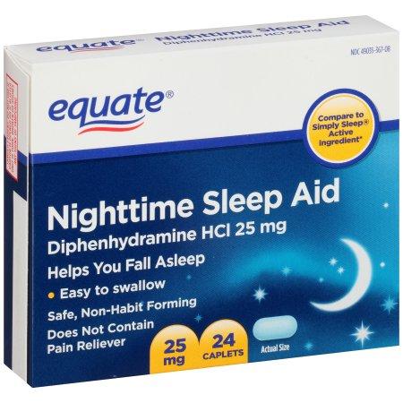Equate® Nighttime Sleep Aid Caplets 24 ct Box