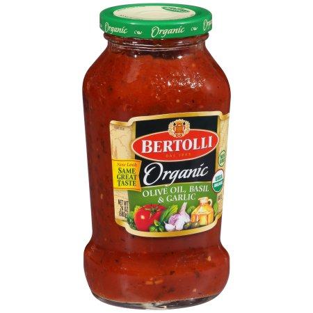 Bertolli® Organic Olive Oil, Basil & Garlic Tomato Sauce 24 oz. Jar