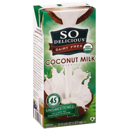 So Delicious® Dairy Free Unsweetened Coconut Milk Beverage 32 fl. oz. Carton