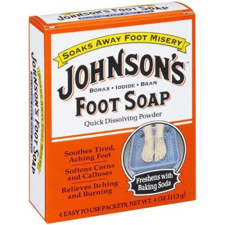 Johnson's: Quick Dissolving Powder Foot Soap, 4 Oz