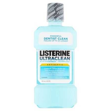 Listerine Ultraclean Arctic Mint Antiseptic, 500 ml