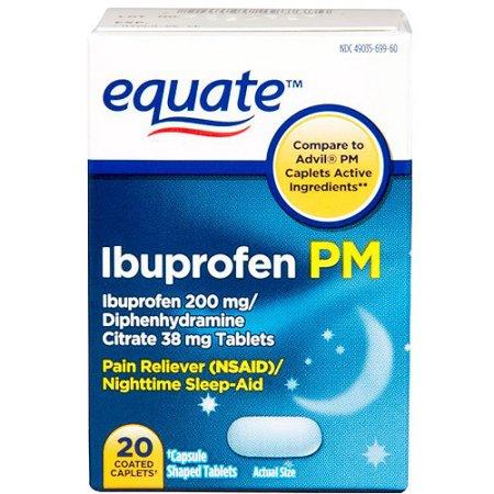 Equate Ibuprofen 200mg PM, 20 count