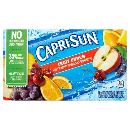 Capri Sun Fruit Punch Juice Drink Blend, 10 count, 60 FL OZ (1.77l)