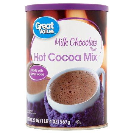 Great Value: Milk Chocolate Flavored Hot Cocoa Mix, 20 Oz