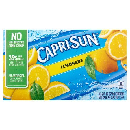 Capri Sun Lemonade Juice Drink, 10 count, 60 FL OZ (1.77l)