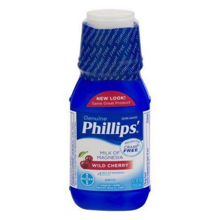 Phillips' Genuine Saline Laxative Milk Of Magnesia Wild Cherry, 12.0 FL OZ