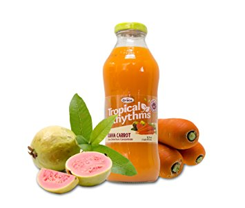 Grace Tropical Rhythms Bottled Juice Guava Carrot 12-pack